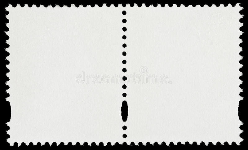 Paires de timbres-poste vides photo stock