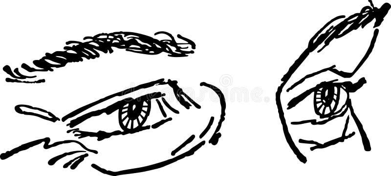 Paires de yeux illustration libre de droits