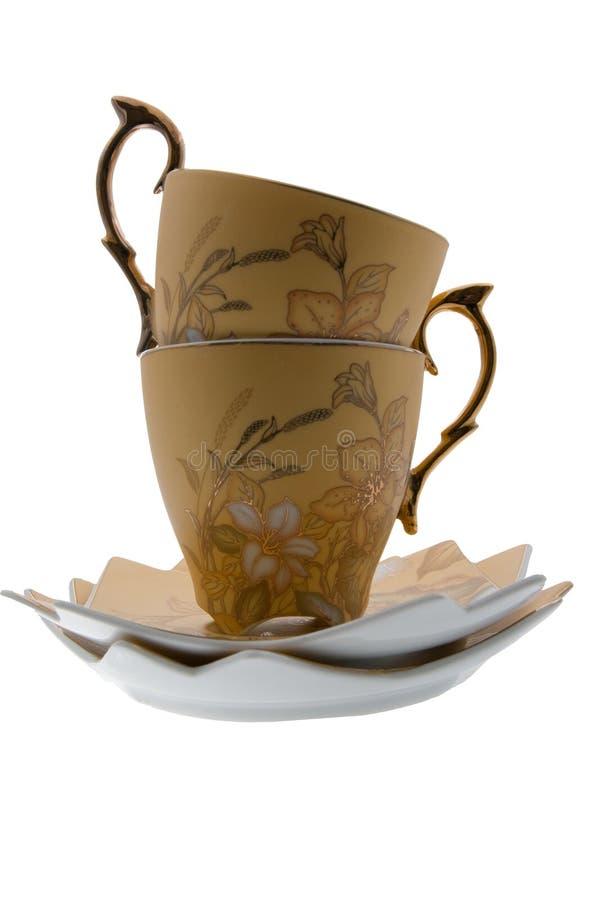 Paires en céramique de thé photographie stock libre de droits