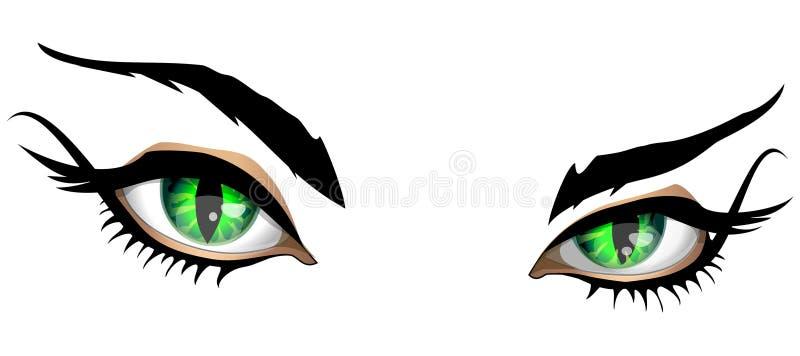 Paires magiques de yeux illustration de vecteur