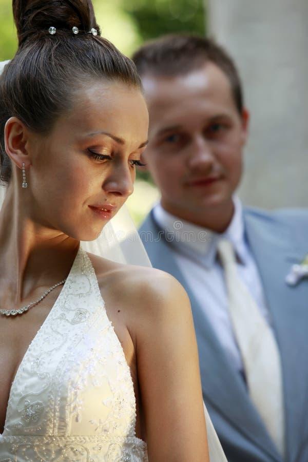 Paires neuf mariées images libres de droits