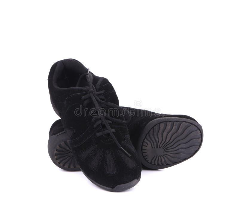Paires noires de chaussures de danse images stock