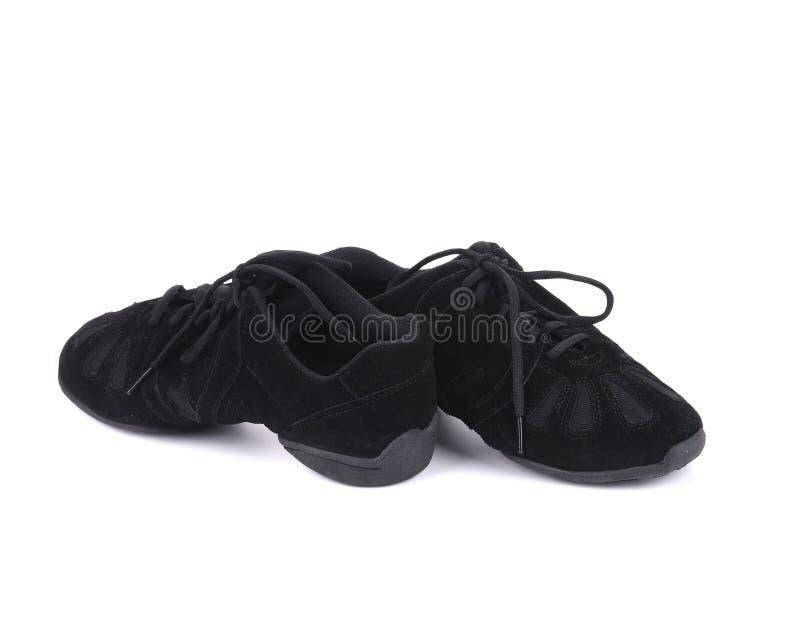 Paires noires de chaussures de danse photographie stock