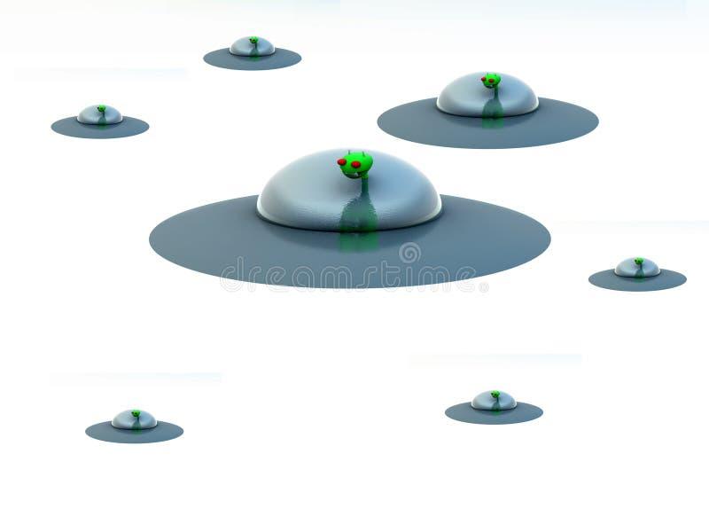 Pairo 7 do UFO ilustração stock