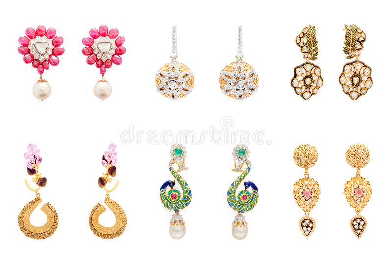 Pairs Of Earrings Stock Photo