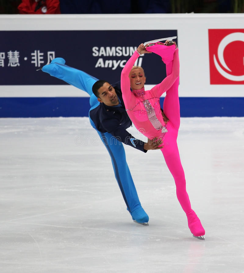 Pairs-Free Skating Event Editorial Stock Image