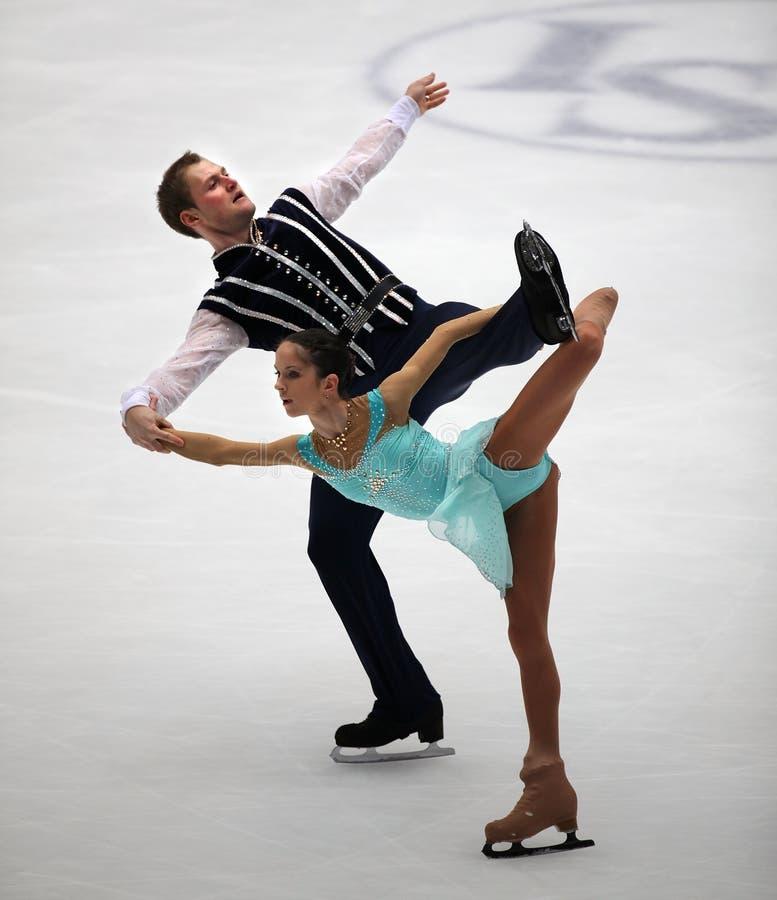 Pairs-Free Skating performance royalty free stock photography