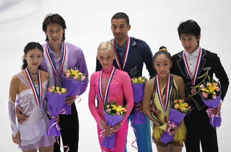 Download Pairs Medallists-ISU Grand Prix Of Figure Skating Editorial Photo - Image: 17607396