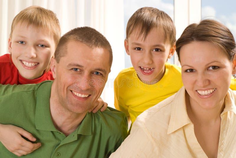 Pais com suas crianças imagens de stock