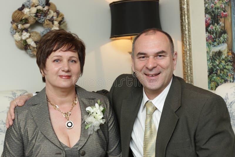 Pais da noiva imagens de stock