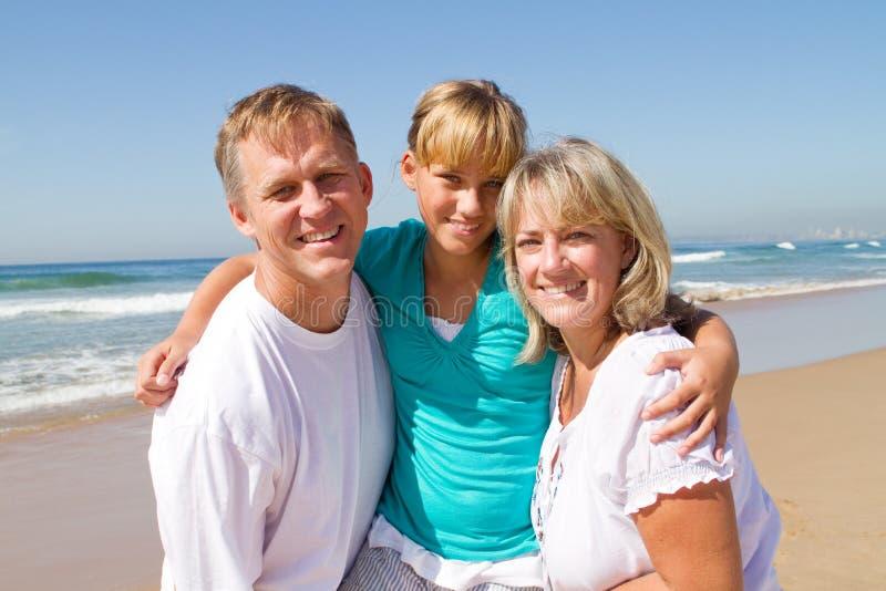 Pais e filha adolescente foto de stock