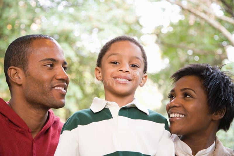 Pais e filho fotografia de stock
