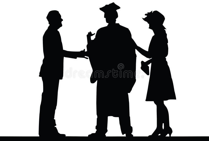 Download Graduação ilustração do vetor. Ilustração de feliz, aprendizagem - 29826013