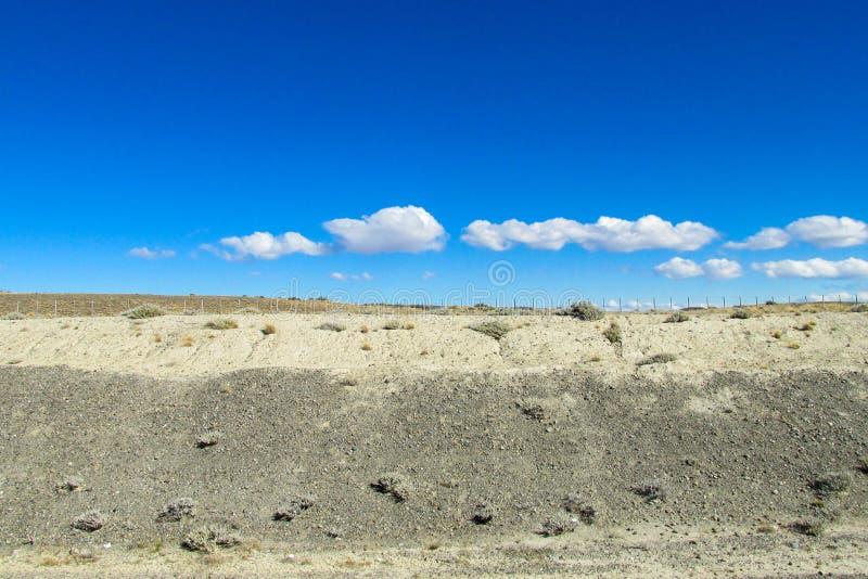 Paisagem árida do deserto das pampas fotos de stock