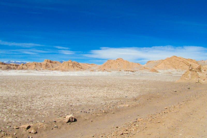 Paisagem árida do deserto de Atacama imagem de stock