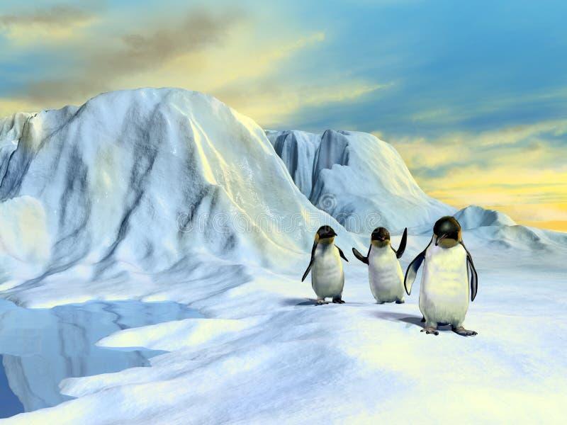 Paisagem ártica ilustração stock