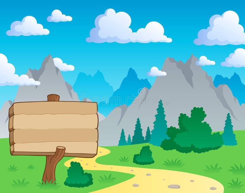 Paisagem 2 do tema da montanha ilustração royalty free