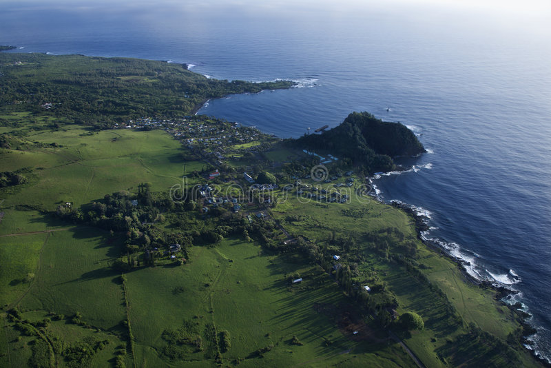 Paisagem aérea de Maui. fotos de stock