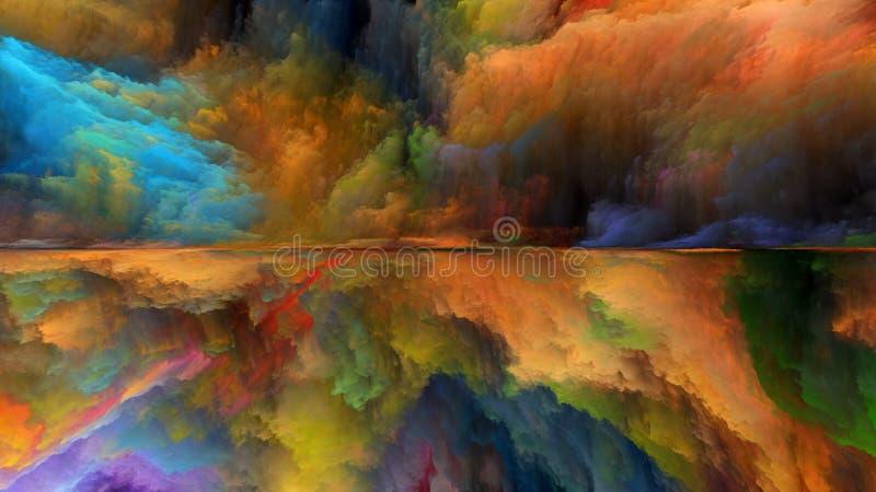 Paisagem abstrata colorida ilustração stock