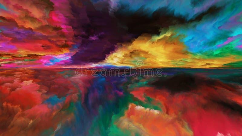 Paisagem abstrata da nuvem ilustração stock