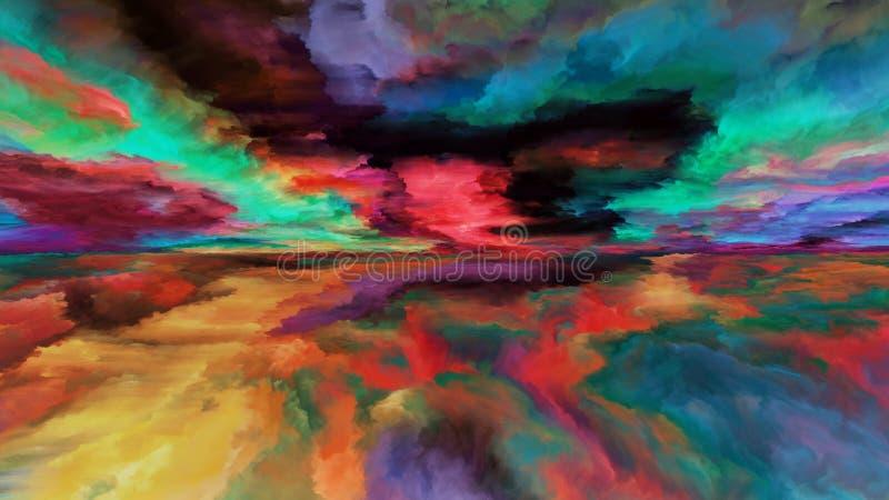 Paisagem abstrata da nuvem ilustração royalty free