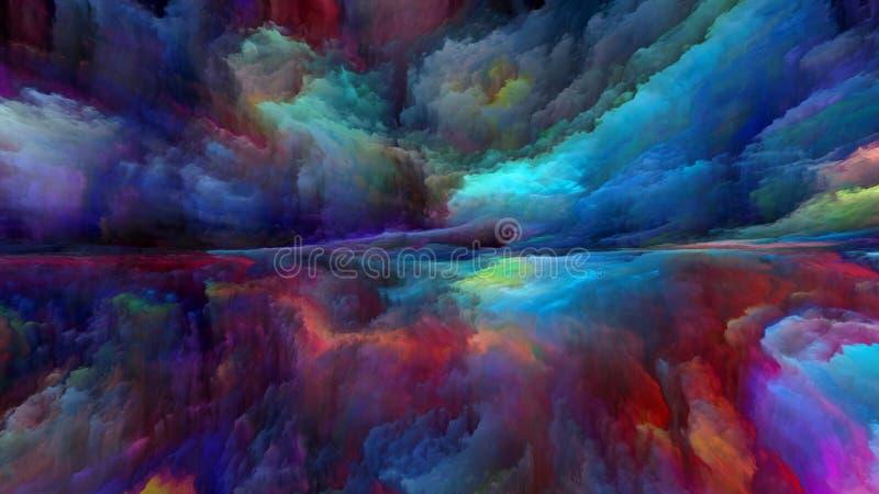 Paisagem abstrata da nuvem ilustração do vetor