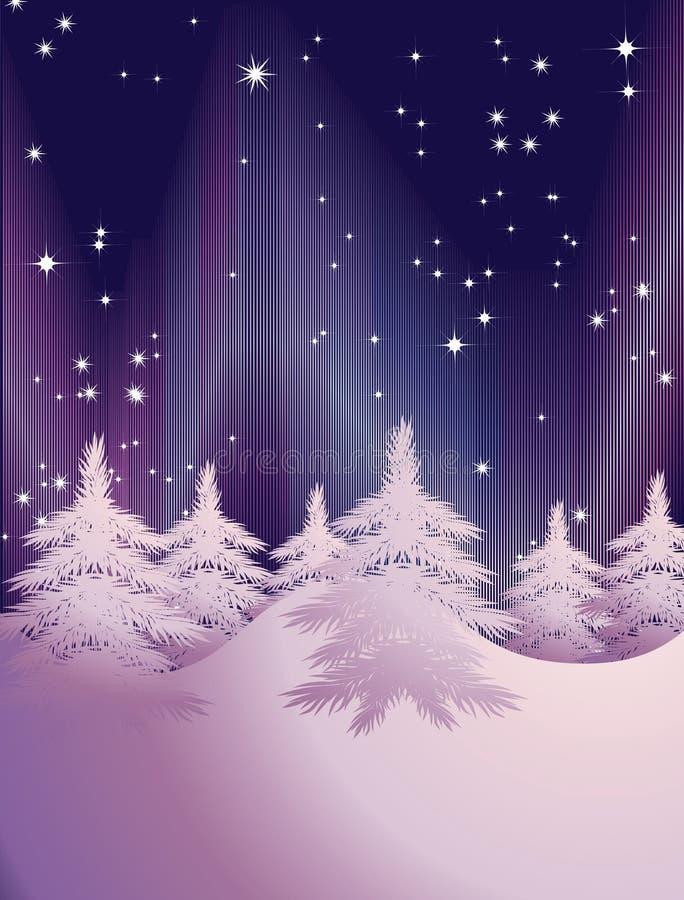 Paisagem abstrata do inverno ilustração stock