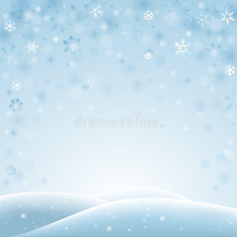 Paisagem abstrata do inverno ilustração royalty free