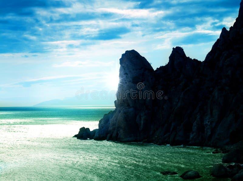 Paisagem abstrata do mar fotografia de stock royalty free