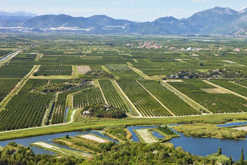 Paisagem agrícola de Bósnia/Herzegovina fotos de stock royalty free