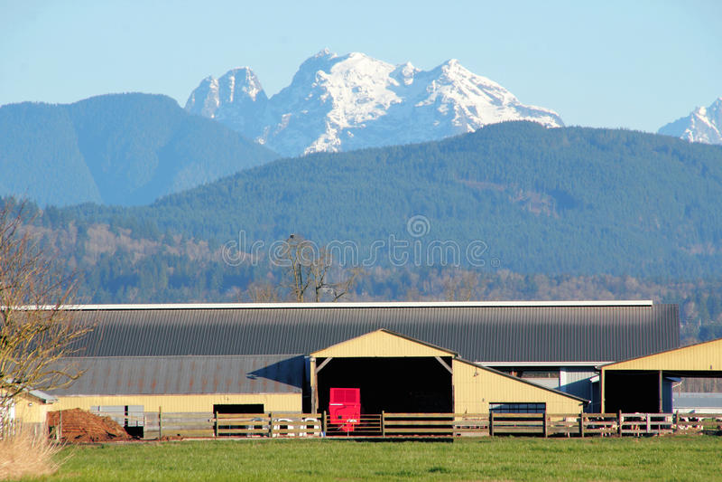 Paisagem agrícola do vale rural foto de stock royalty free
