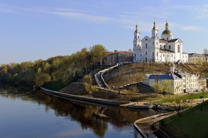 Paisagem agradável da mola de Belarus Vitebsk fotografia de stock royalty free