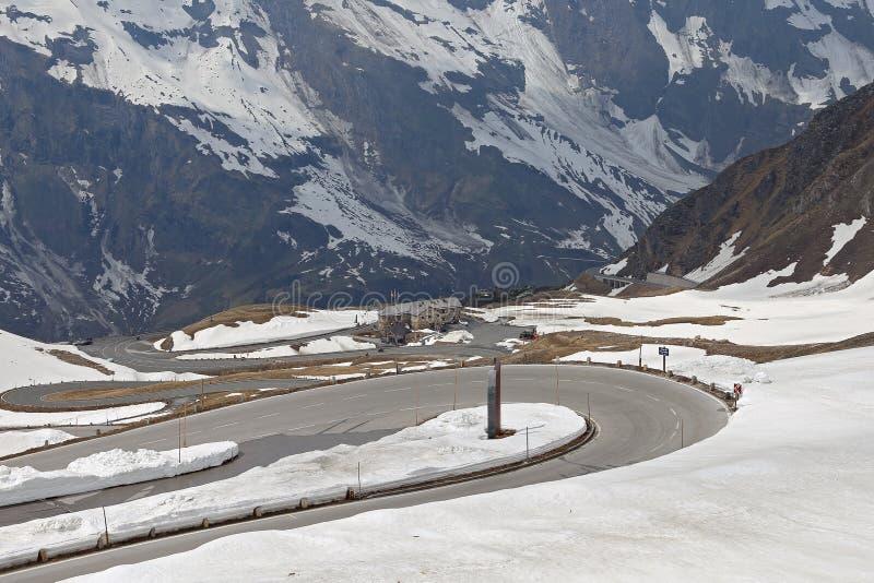 Paisagem alpina alta da montanha da estrada de Grossglockner, Áustria fotografia de stock