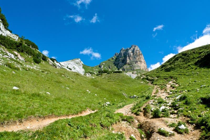 Paisagem alpina, cordilheira de Rofan, Áustria imagem de stock