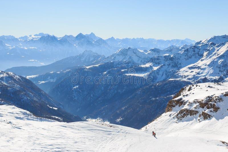 Paisagem alpina em Valtournenche fotografia de stock