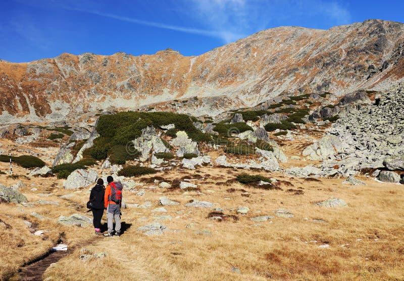 Paisagem alpina no parque nacional Retezat imagens de stock
