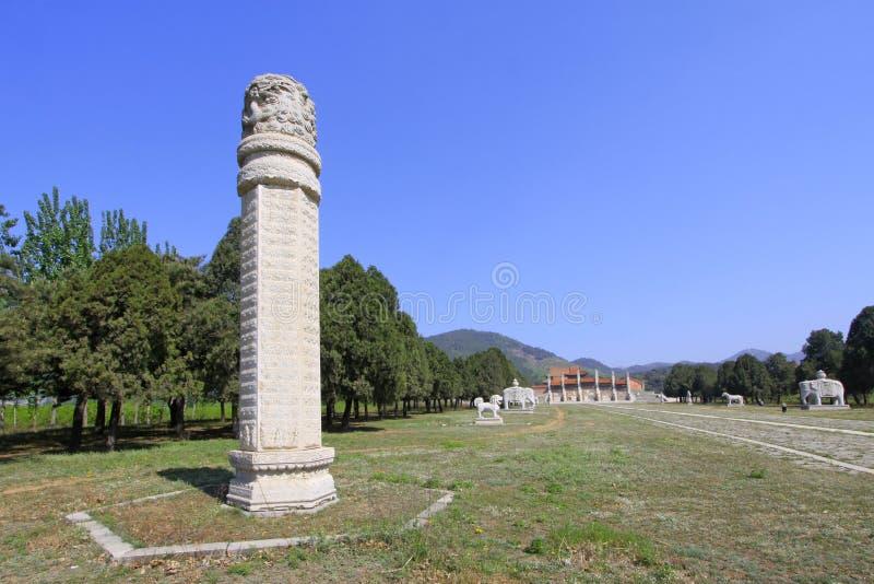 Paisagem antiga chinesa da arquitetura no túmulo real oriental fotografia de stock royalty free