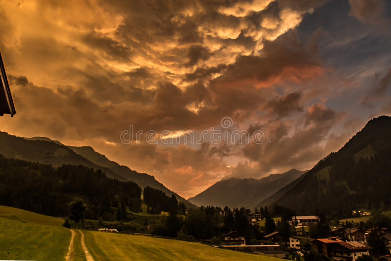 Paisagem apocalíptico fotografia de stock