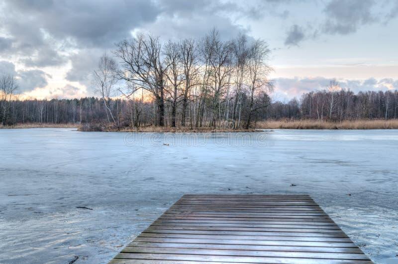 Paisagem atrasada do inverno foto de stock