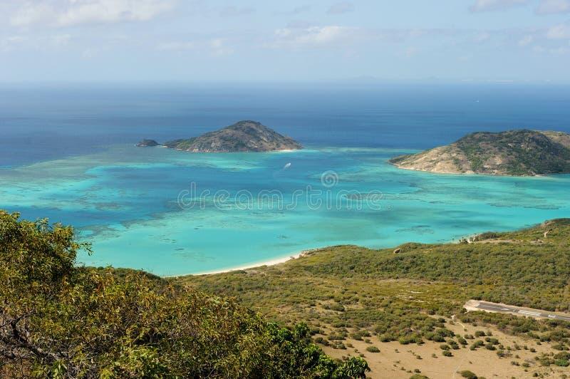 Paisagem australiana Ilha do lagarto, o grande recife de coral, Queensland, Austrália foto de stock royalty free