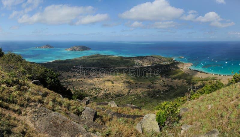 Paisagem australiana Ilha do lagarto, o grande recife de coral, Queensland, Austrália foto de stock