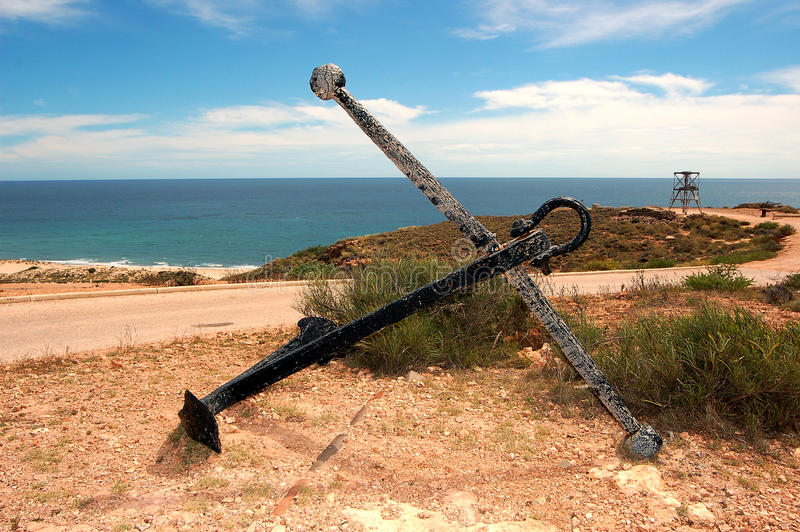 Paisagem australiana panorâmico - a baía de Exmouth Desfiladeiro no parque nacional da escala do cabo, Ningaloo da angra do Yardi imagens de stock