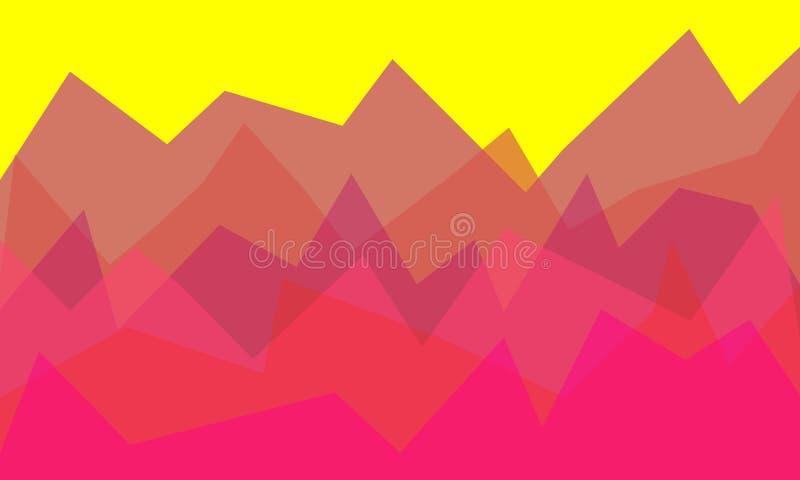 Paisagem Baixo-poli da montanha Roxo psicadélico do inclinação - Maya Blue Baixo projeto poli Poligonal abstrato ilustração do vetor