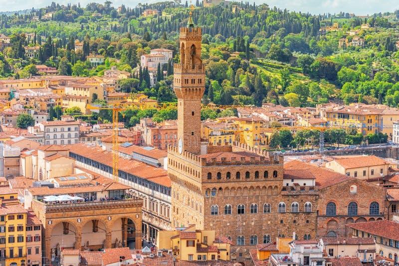 Paisagem bonita acima do palácio Vecchio Palazzo Vecchio em P imagens de stock