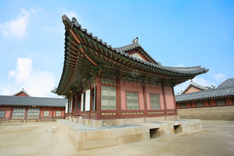 Paisagem bonita da História de Coreia do palácio de Kyongbok foto de stock royalty free