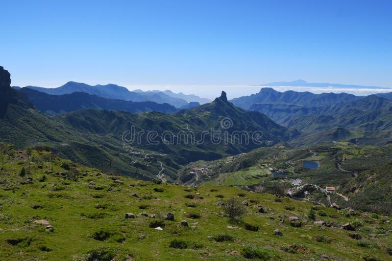 Paisagem bonita da montanha de Gran Canaria Ilhas Canárias, Espanha fotografia de stock
