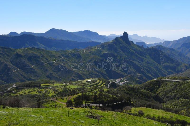 Paisagem bonita da montanha de Gran Canaria Ilhas Canárias, Espanha imagens de stock
