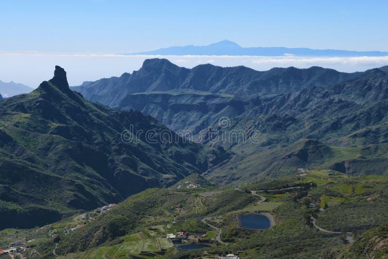 Paisagem bonita da montanha de Gran Canaria Ilhas Canárias, Espanha imagem de stock royalty free