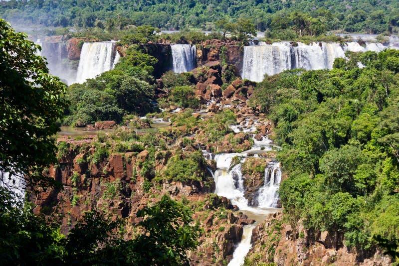 Paisagem bonita das cachoeiras de Iguazu imagens de stock royalty free