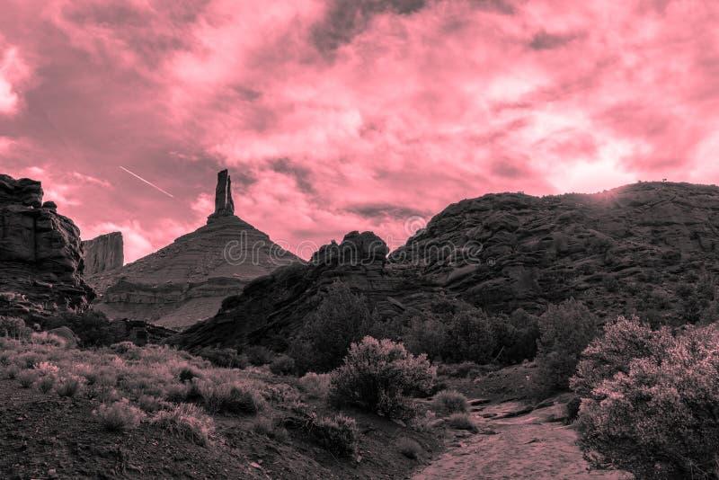 A paisagem bonita do deserto de Moab, Utá foto de stock